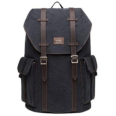 KAUKKO Canvas Backpack Laptop Daypack Hiking Travel Shoulder Bag Duffel Bags