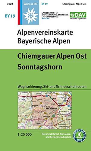 Chiemgauer Alpen Ost, Sonntagshorn: Wegmarkierung, Ski- und Schneeschuhrouten (Alpenvereinskarten)