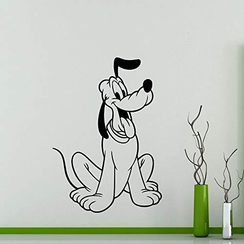 Plutón personaje de dibujos animados pegatinas de pared de vinilo extraíbles para ventana de esquina guardería sala de estar oficina dormitorio decoración