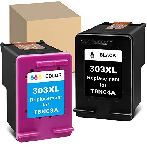 Cartuchos de tinta remanufacturados para HP 303XL 303 XL Combo Pack Uso con HP Envy Photo 6220 6222 6230 6232 6234 7830 7130 7134 7120 7134 7800 7820 7858 78 78 78 64 Tango Impresora X (Negro, Color)