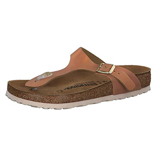 BIRKENSTOCK Gizeh VL Washed Metallic Sea Copper 38