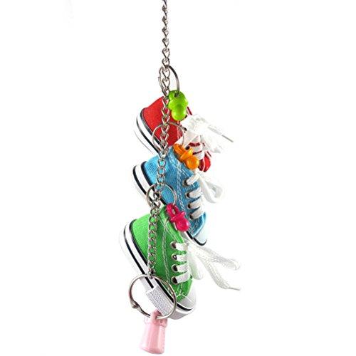 ueetek juguetes de mascar juguete de jaula para loros pjaros