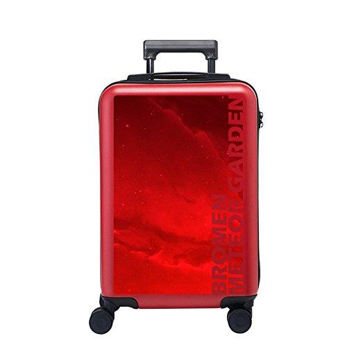 Equipaje Lyl Maleta Ligera de la Maleta TSA Lock PC Funda rígida de la Bolsa de Viaje Carry on Luggage Mano con Las Ruedas de la rotación 360⁰ (Color : Red, Size : 20 Inch)