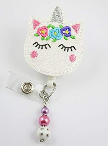 Cute Glittery Unicorn - Nurse Badge Reel - Retractable ID Badge Holder - Nurse Badge - Badge Clip - Badge Reels - Pediatric - RN - Name Badge Holder