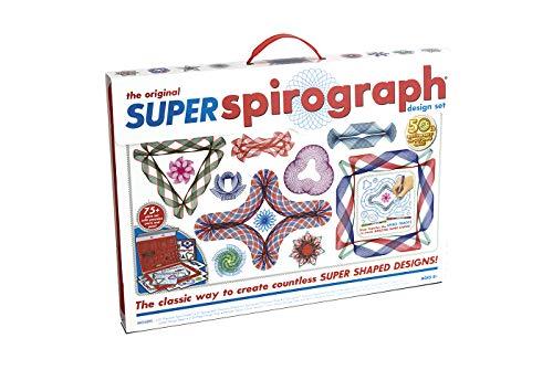 SPIROGRAPH Super Kit geométrico. Incluye 75 Accesorios, rotuladores y Papel de diseño. A Partir de 8 años. Ref. 41237 (Fábrica de Juguetes 41237.0)