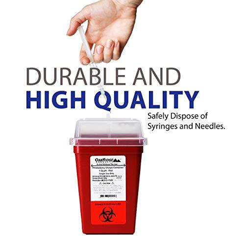 buy  OakRidge Products 1 Quart Size (Pack of 3) Sharps ... Diabetes Care