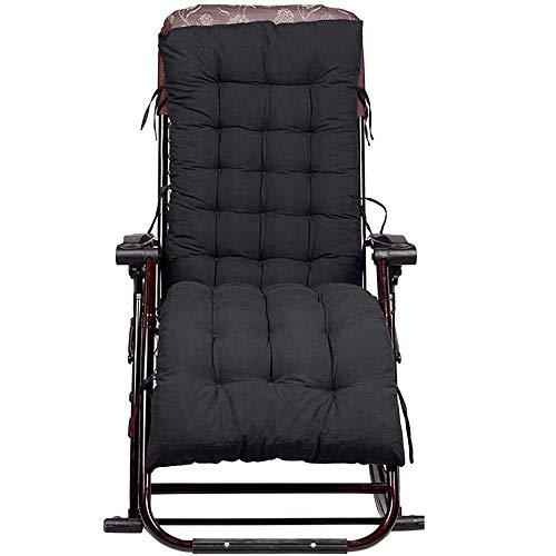 FTYU Chaise Longue Kissen rutschfeste Sonnenliege Gartenschleifen für Sessel Relax Lounge Dickes Terrassenbad Kissen