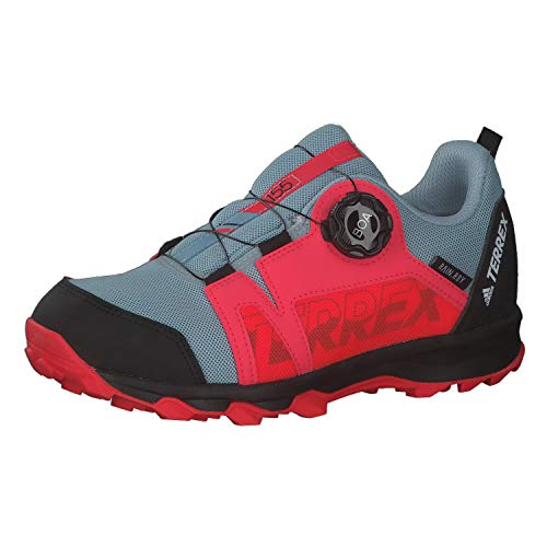 adidas Unisex Terrex Agravic Boa R.rdy K Leichtathletik-Schuh, Dark Grau S18/ FTWR Weiss/Schock Rot, 36 2/3 EU