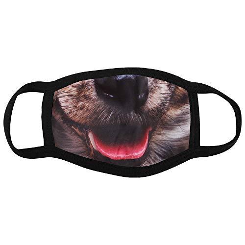 Shirt-Panda Stoffmaske mit Motiv · Maske mit wechselbarem PM2.5 Filter · Mundschutz mit lustigen Motiven und Mustern · waschbarer Mund- und Nasenschutz · Hund