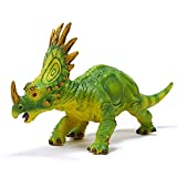 RECUR Styracosaurus Dinosaur Figure Party Game Decoration Toy, Realistic Dinosaur Model Replica 8.7inch Herbivore, Birthday Gift for Toddlers Kids Boys Girls