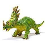 RECUR Dinosaur Model Action Styracosaurus Figure Toy Prehistoric Life, Educational Plastic Dino World Toys Gift for Kids Boys Collectors, Jurassic World Herbivore, Realistic Replica