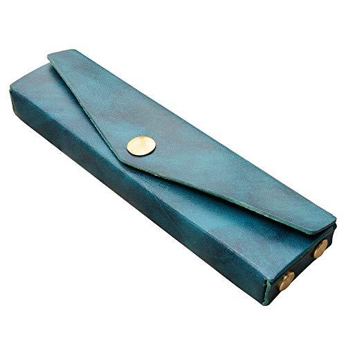 waramimi ペンケース 革 筆箱 超スリム ペンケース 本革 万年筆入れ レザー ふで箱 シンプル ふでばこ コンパクト 筆入れ おしゃれ 軽い 小さめ 4本差しレディース メンズ 就職祝い プレゼント 成人祝い ギフト