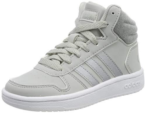 adidas Hoops Mid 2.0 K, Zapatillas de básquetbol Unisex niños, Gris (Grey Two F17/Silver Met./FTWR White Grey Two F17/Silver Met./FTWR White), 30.5 EU