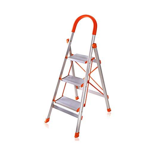 LRZLZY Haushaltsklappleiter verdickten Aluminiumlegierung Ladder Fischgrät-bewegliche Leitertreppe Innenleiter Engineering Treppenstuhl Stuhl Stabilität und Sicherheit