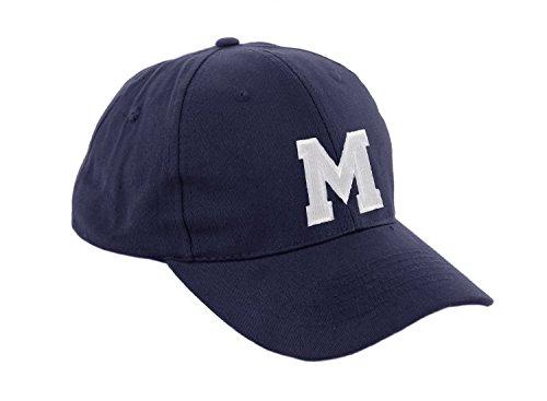 morefaz Unisex Jungen Mädchen Mütze Baseball Cap Marineblau Hut Kinder Kappe Alphabet A-Z TM (M)