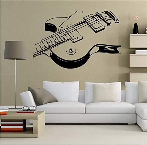 Doe-het-zelf-muursticker PVC Vinyl Cartoon huisdecoratie Gitaar Model Woonkamer Studie Woondecoratie Vinyl Art Muursticker 58 x 90 cm