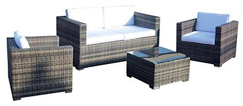 LW WL Zeo Set canapé, 2 fauteuils et Table, café, 80 x 146 x 65 cm