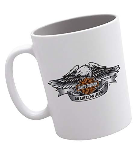 Publiassia Harley Davidson Tazza 2 Collezione Personaggi Decorazioni Idea Regalo Motor Motorcyclist Biker Uomo Donna Passione Moto Veicoli