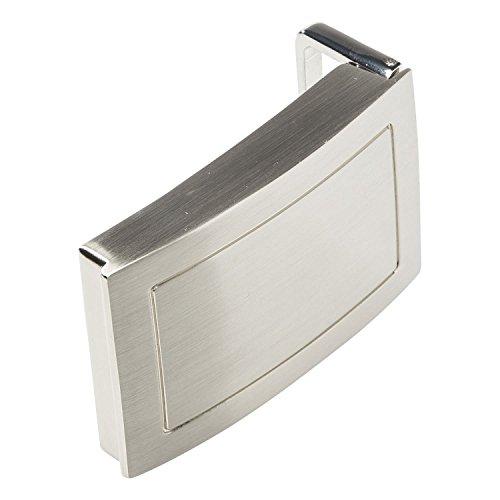 Invida Easy fibbia per cintura con scomparto segreto, colore argento