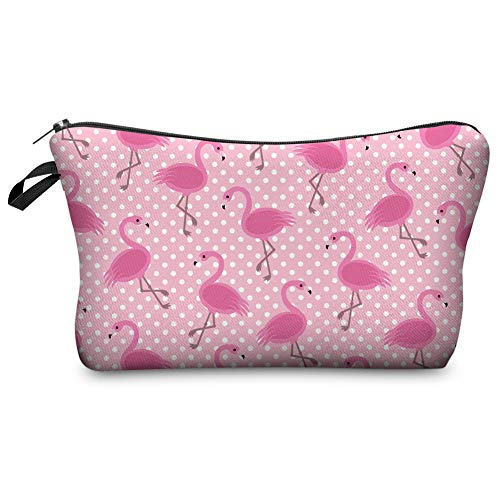 Jom Tokoy Makeup Bag for Purse Pink Flamingo Cosmetic Bag Gifts (Flamingo)