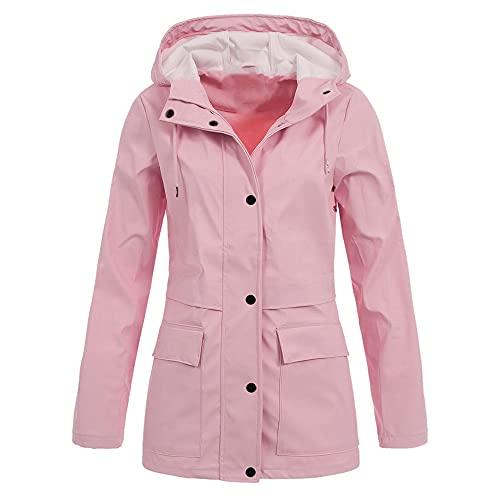 Impermeable con capucha impermeable mujeres con capucha a prueba de viento lluvia