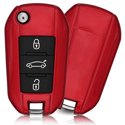 Funda de Silicona para Llave de Audi ASARAH AI 3BKB 3BKB-b 2 PCS 2 x Rosa
