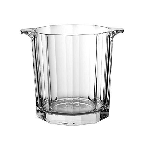 ZXL Portaghiaccio,Secchiello per Il Ghiaccio in Vetro Cristallo, Secchiello per Champagne Trasparente Contenitore per Bevande al Ghiaccio Dispositivo di Raffreddamento del refrigeratore di Vino