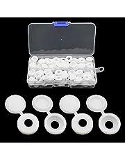 JaneYi 100 stuks schroefafdekkingen kunststof schroefdop schroefsluiting schroefsluitingen met opbergdoos voor meubelkasten kledingkast