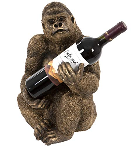 Animal Crackers Bronze effect Gorilla Wine Bottle Holder ornament decoration monkey lover gift