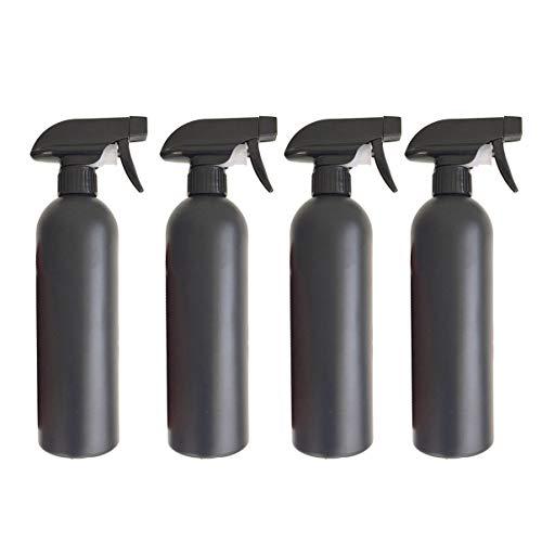 TOPBATHY 4Pcs 500Ml Leere Lotion Sprühflasche Nachfüllbare Handseife Shampoo Spender Flüssige Kosmetische Pumpflaschen für Ätherische Aromatherapieöle (Schwarz)