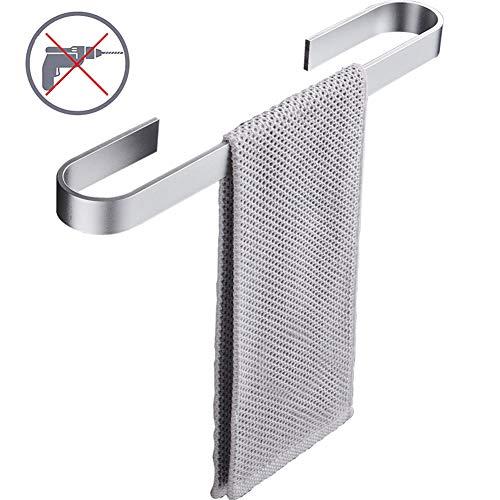 WISKEO Toalleros De Barra Adhesivos, No Hay InstalacióN De PerforacióN, Aluminio, para BañO Cocina Plata Brillante 60CM