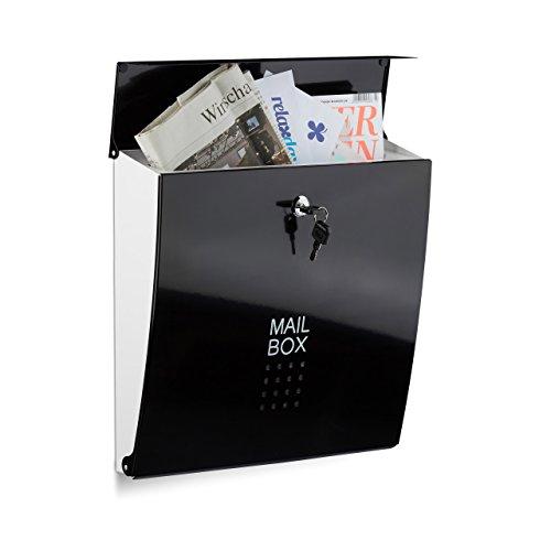 Relaxdays brievenbus zwart