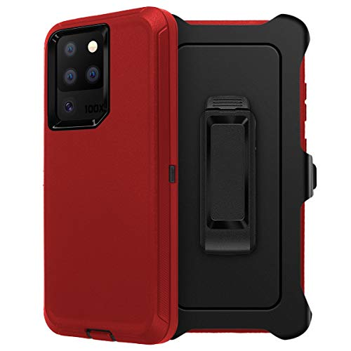 AICase for Galaxy S20 Ultra Belt-Clip Holster Case, Drop Protection Full Body Rugged Heavy Duty Case, Shockproof/Drop/Dust Proof 4-Layer Protective Durable Cover for Samsung Galaxy S20 Ultra 5G