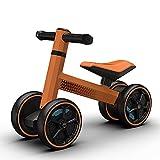 Bicicleta Sin Pedales, Bicicleta Bebe Asiento Regulable Manija del Coche, Andador Bebes Adecuado para NiñOs De 2 A 5 AñOs Silicona Suave Y CóModa