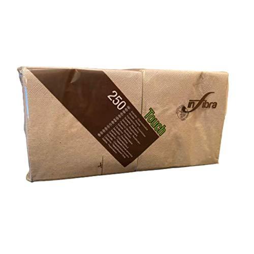 250 Tovaglioli di carta Beige 100% Ecologici Misura 24x24 (piccolo)