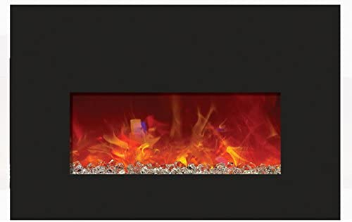 Amantii Small Electric Fireplace Insert online shop with Glass Genuine Surroun Black