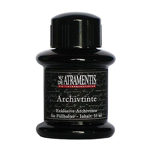 De Atramentis Archive Ink-Black 45ml Fountain Pen Bottled Ink