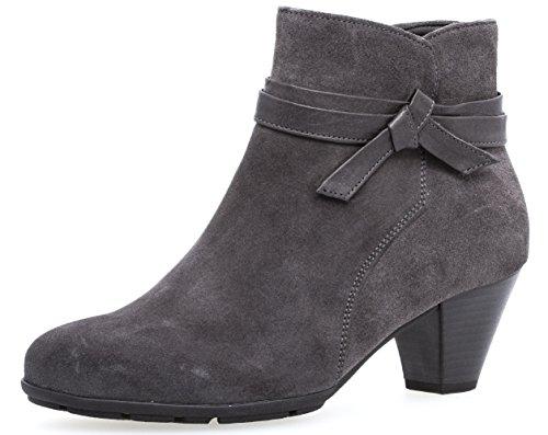 Gabor Damenschuhe 75.642.39 Damen Stiefeletten, Boots, Stiefel, mit Luftkammersohle, mit Reißverschluss Grau (Pepper), EU 5