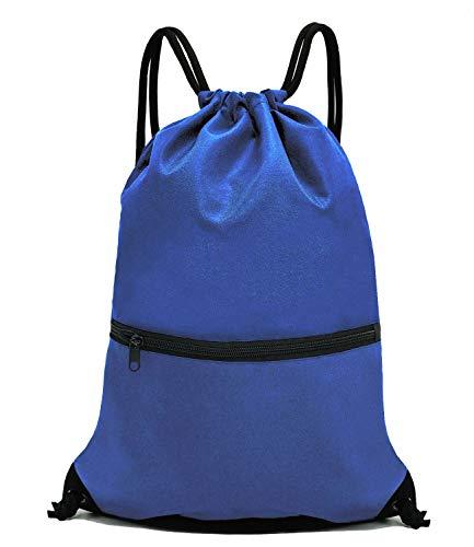 HOLYLUCK Men & Women Sport Gym Sack Drawstring Backpack Bag - Blue
