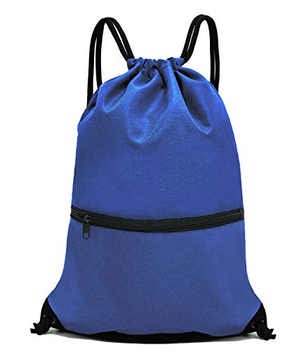 HOLYLUCK Men & Women Sport Gym Sack Drawstring Backpack Bag - Blue