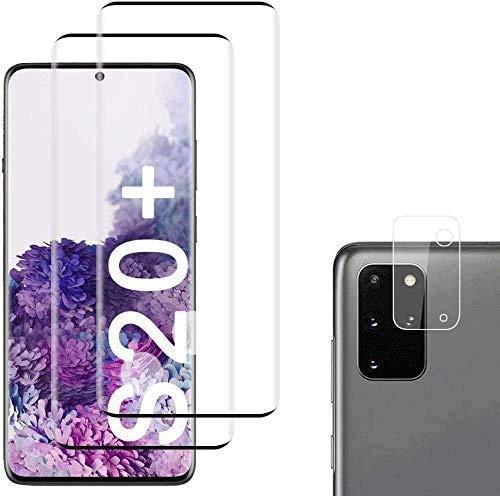 QDADZD Panzerglas Schutzfolie für Samsung Galaxy S20+ / S20 Plus [2 Stück],+Linse Schutzfolie, Fettabweisende Hartglas Folie 9H Härtegrad, Anti-Kratzen für Samsung Galaxy S20+ / S20 Plus,(6.7