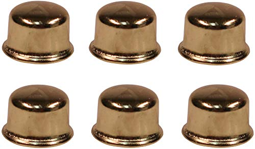 Creative Hobbies ELY6251 1/2 Inch Tall Brass Plated Steel Finials tapped 1/4-27 for Lamp Harp Tops -Pack of 6