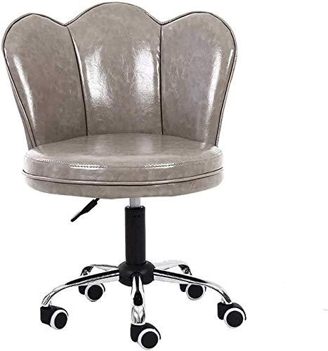 Modern Minimalist Sedia Sedia da ufficio Sedia da ufficio Desk Mid-Back Sedie da scrivania con supporto lombare confortevole Emulsion Sponge Sponge senza armless Ascensore 10cm (Color : Gray)