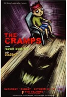 The Cramps Poster w/Fabulous Monsters & Deadbolt 1999 Concert