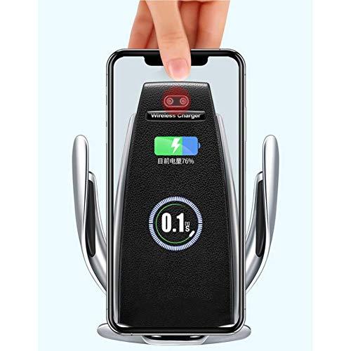 Cargador de coche inalámbrico Monte ATRACTOR AUTOMÁTICO Sensor de gravedad Sensor de coches Montaje 10W 7.5W Qi Carga rápida Air Soporte de aire Titular de teléfono con adecuado para teléfonos móviles