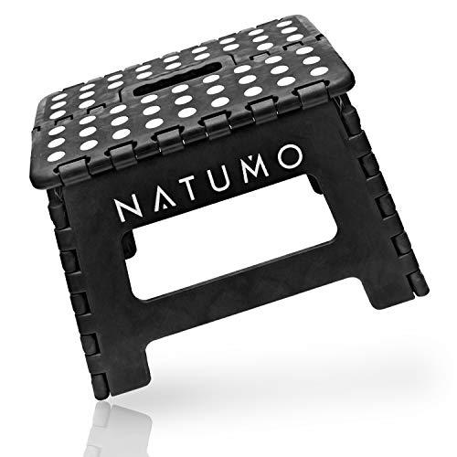 Natumo® - Taburete plegable para 150 kg, taburete de cocina, baño, silla plegable de jardín, pequeño reposapiés para niños, ayuda para ascenso, lavabo, para niños y adultos