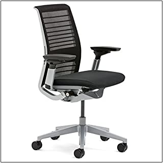 Steelcase Think Chair(R) - 3D Knit and Buzz2 Fabric, color = Black
