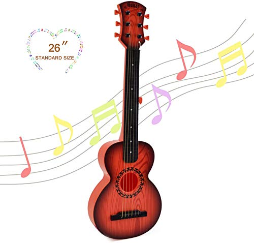 Happytime Kids Emulational Guitar Musical Toys Guitar with 6 Strings Musical...