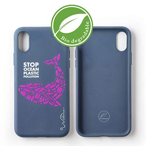 Custodia per Telefono Wilma Biodegradabile Ecologica Compatibile con iPhone XR Ferma l'Inquinamento degli Oceani dalla Plastica, Senza Plastica, Atossica, Completamente Protettiva - Balena