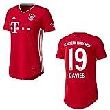Bayern Trikot Home Frauen 2021, Spielerflock (zzgl. 10.00EUR):19 Davies, Größe:L